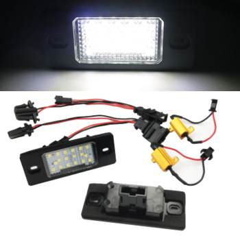 Marlaa 2x LED Tail Number License Plate Lights Lamps Error Free For Bora Golf 4 5 Passat B5.5 Tiguan Touareg Mk1 image