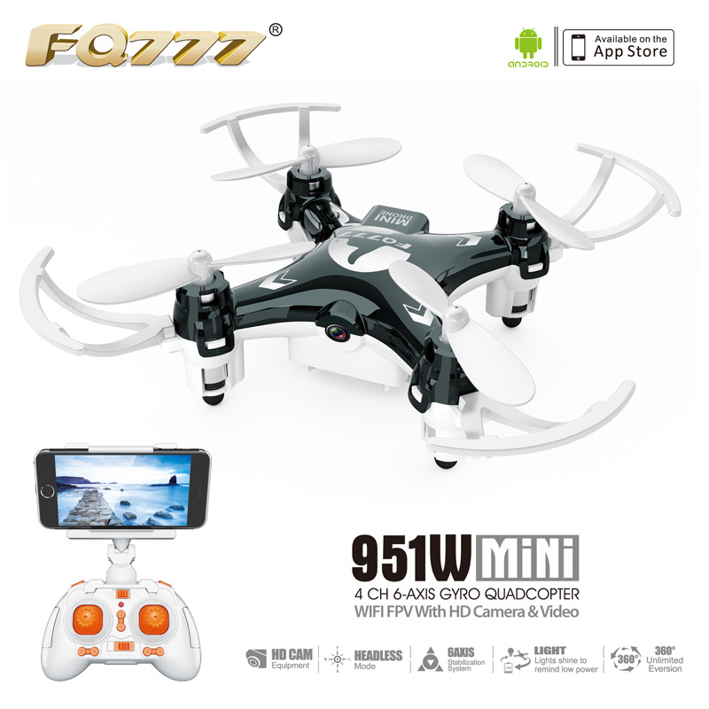 Fq777 951W Mini Unmanned Aerial Vehicle WiFi Portable Aircraft Telecontrolled Toy Aircraft Hot Sales