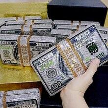 Snelle Verzending Groothandel Luxe Tas Beroemde Luxe Portemonnees Vrouwen Avond Party Crystal Stapel Van Cash Rijke Koppelingen Bill Portemonnees