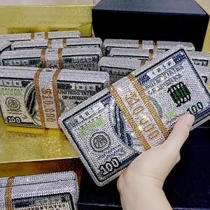 Image 1 - Transporte rápido por atacado luxo saco famoso luxos bolsas feminino festa à noite cristal pilha de dinheiro rico garras bill bolsas