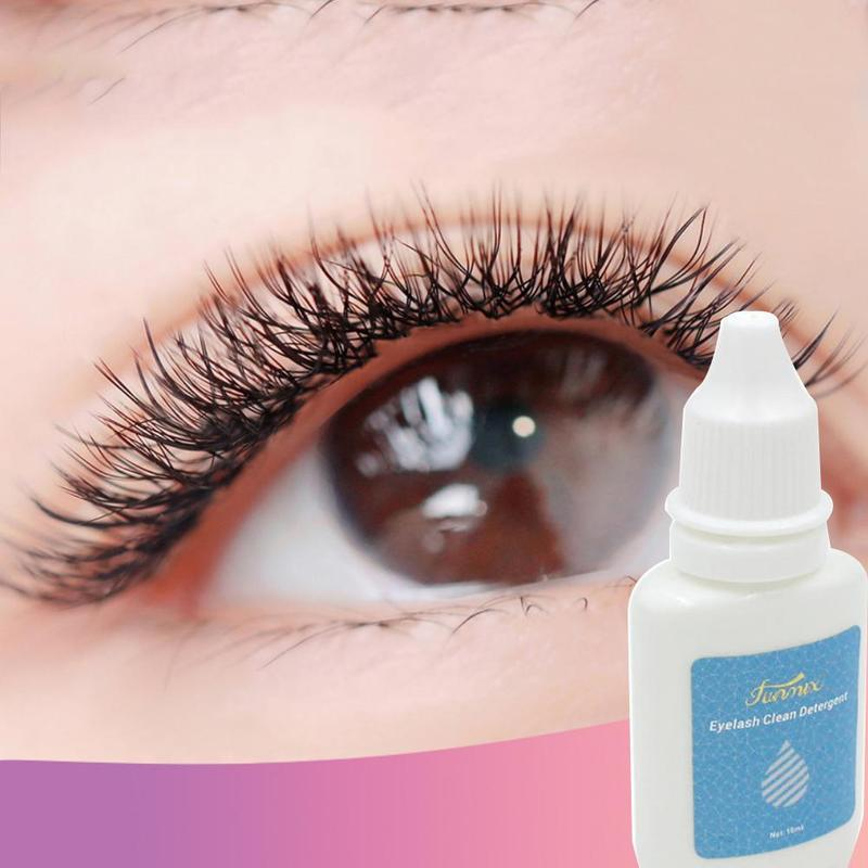 10ml Eyelash Cleaner Planting Eyelash Grafting Degreasing Cleanser Primer False Eyelash Extension Liquid Clean Dust Grease