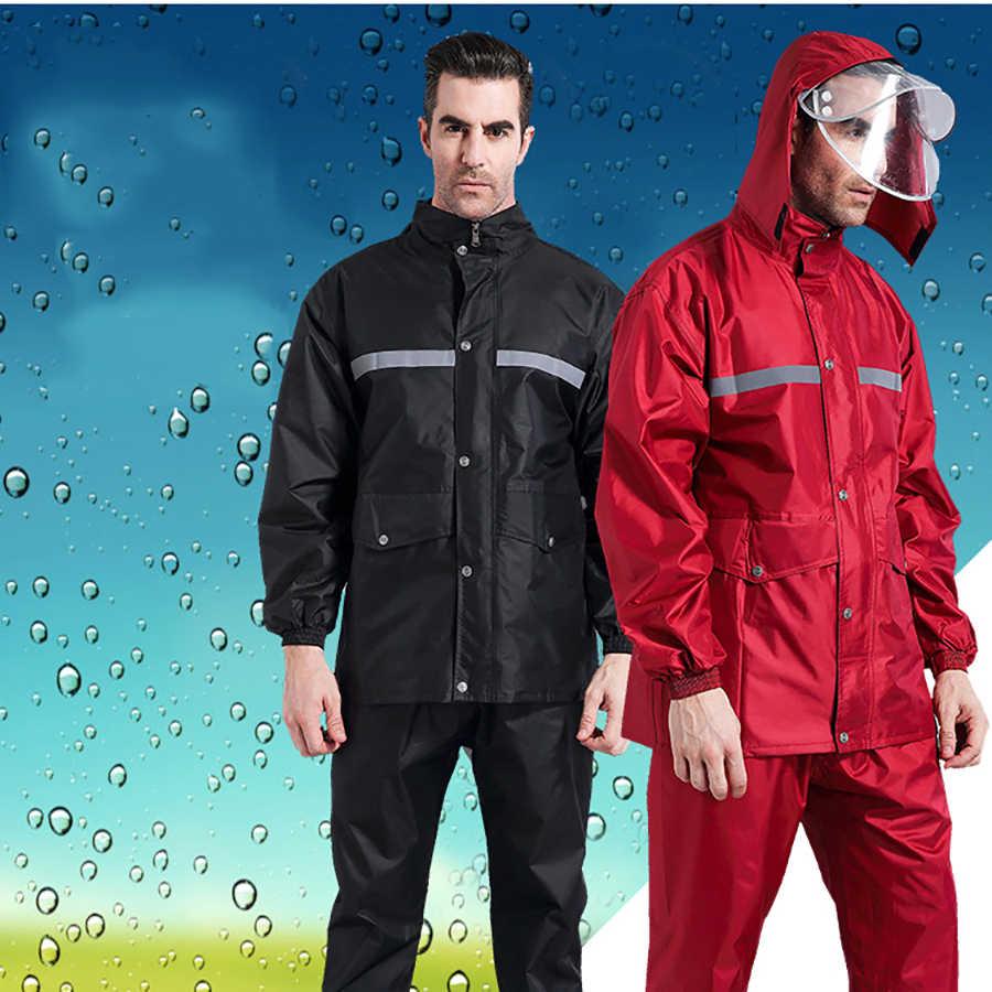Impermeable para Hombre, impermeable, impermeable, Poncho para motocicleta, Poncho, impermeable, impermeable, Gabardina, Hombre, ropa para la lluvia, DD6YY