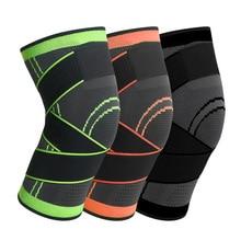 Sports pressure knitting kneepad running cycling basketball breathable band kneepad outdoor fitness climbing kneepad