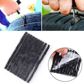 50/100pcs Car Bike Tyre Tubeless Seal Strip Plug Tire Puncture Repair Recovery Kit Auto Motorcycle Tubeless Tire Repair Tools car tire repair tools tubeless tyre puncture repair plug kit needle patch fix tools cement useful set