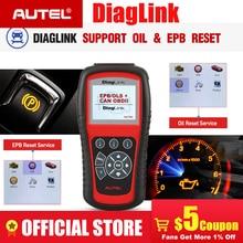 AUTEL Diaglink All System OBD2 Scan Tool OBDII Car Scanner Diagnostic Code Reader Oil Reset SRS EPB ABS Transmission PK MD805