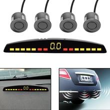 Universele Auto Led Parking Sensor Met 4 Sensoren Parktronic Auto Detector Reverse Backup Radar Monitor System