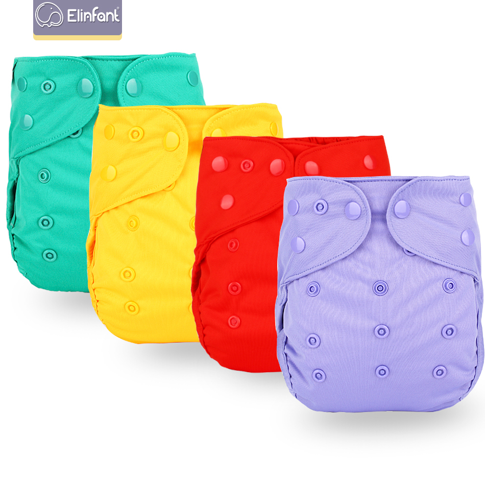 Elinfant New Arrival Baby Cloth Diaper Cover Waterproof Cartoon Baby Washable Diapers Pocket Reusable Cloth Nappies