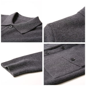 Image 5 - COODRONY Marke Pullover Männer Streetwear Fashion Pullover Mantel Männer Herbst Winter Warme Kaschmir Woolen Strickjacke Männer Mit Tasche 91104