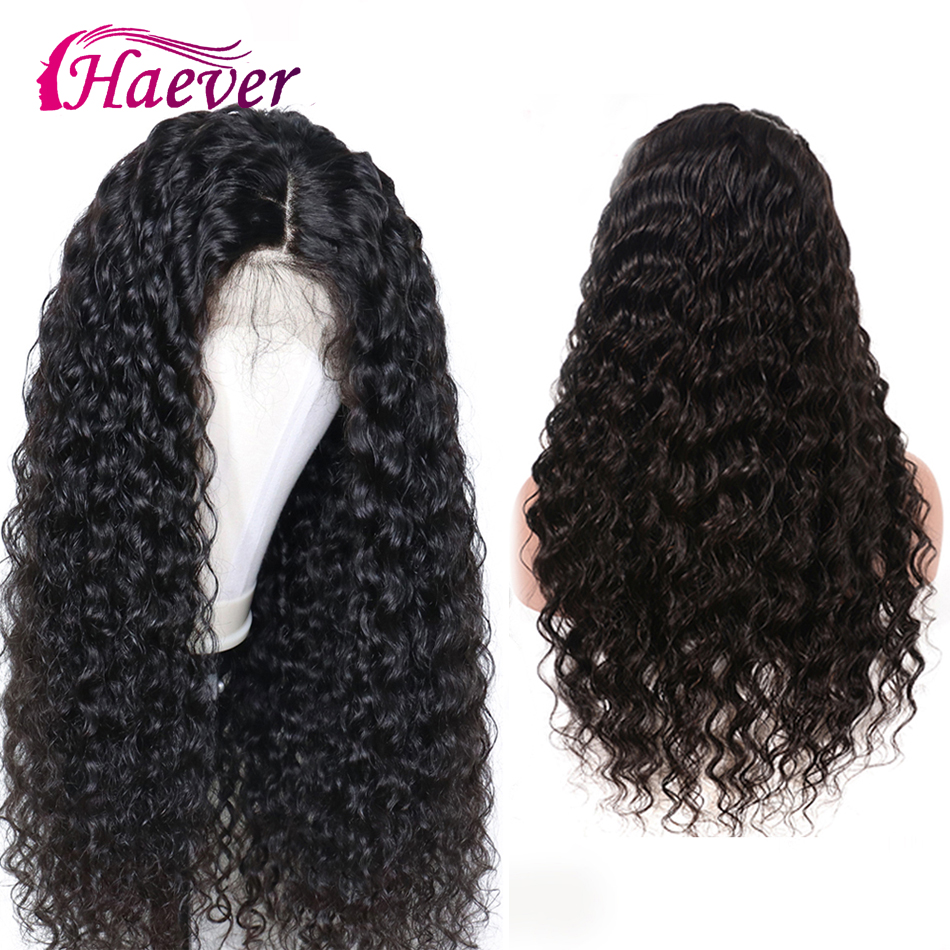 Haever 180% Deep Wave Wigs Lace Front Human Hair Wigs Pre Plucked Malaysian Remy New Hair 13X4 Lace Frontal Wig For Black Women