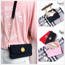 Universal Long chain crossbody Phone bag Soft Silicone Walle