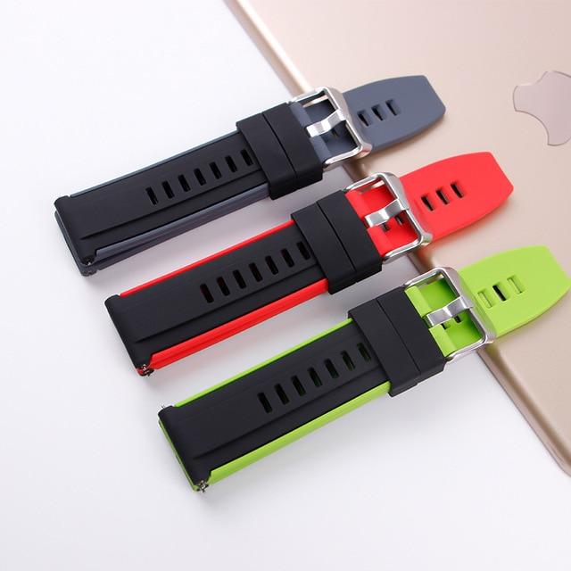 ремешок силиконовый для huawei watch gt/gt 2 46 мм браслет смарт фотография
