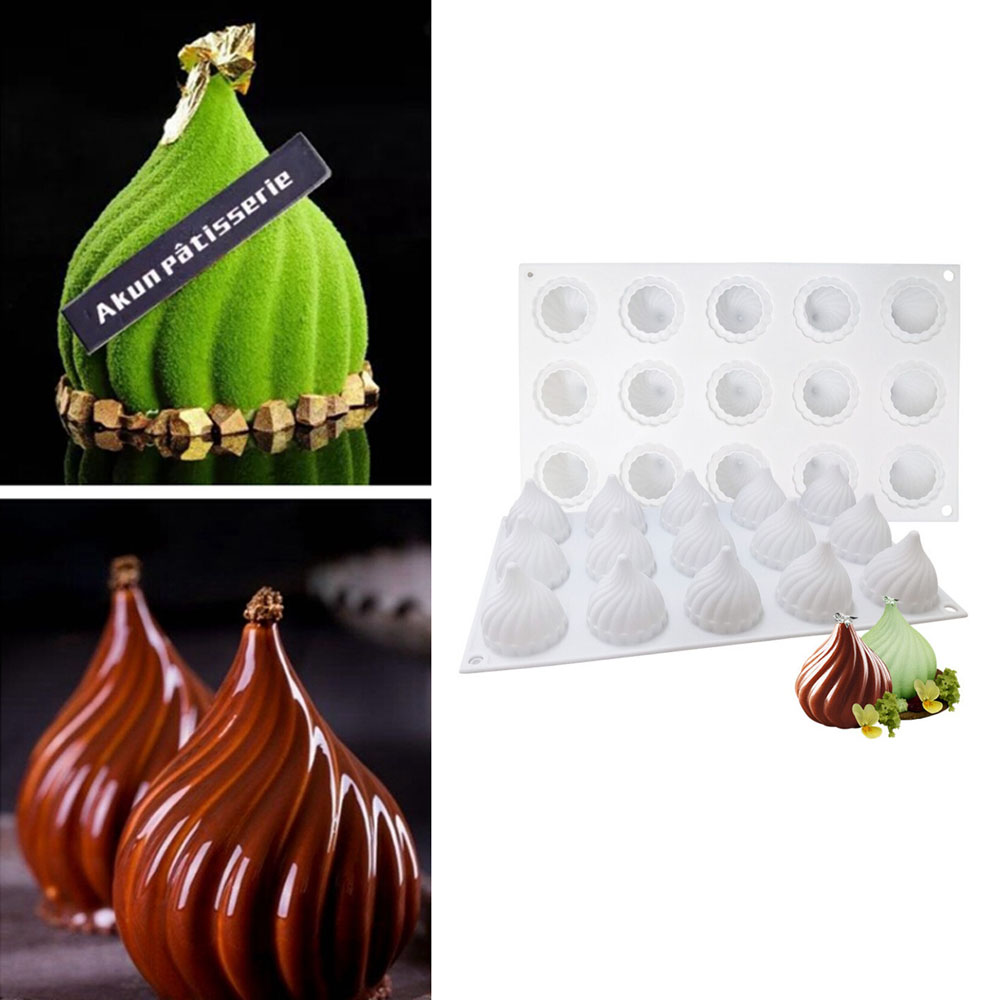 3D Silicone Fruit Shape Cake Mold For Mousse Dessert Mould Apple Lemon Pear Cheery Chocolate Pastries Molds DIY Baking Tray