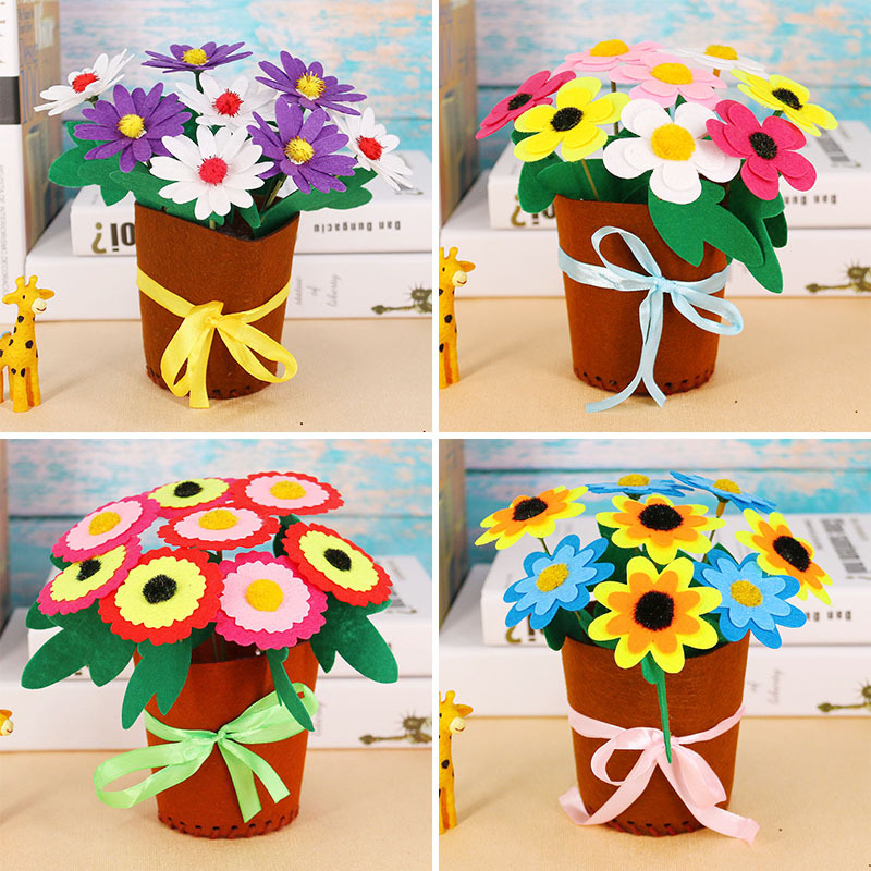 Kids Arts And Crafts Toys Kids DIY Handmade Potted PlantsKindergarten Early Learning Education Toys Montessori Teaching Aids