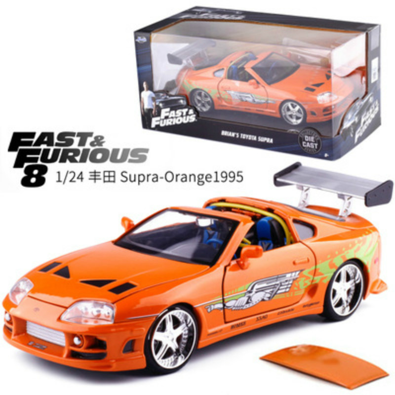 2019 New 1:24 Fast And Furious Super Car Model Metal Alloy Die-casting Toy Car Model Miniature Toy Car Collecting Toy Gifts.