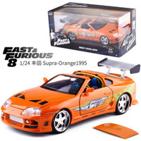 2019 New 1:24 Fast And Furious super car model metal alloy die casting toy car model miniature toy car collecting toy gifts.