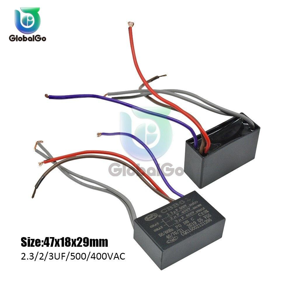 CBB61 игрушка конденсатор моторного двигателя, начиная с постоянной ёмкости, универсальный конденсатор переменного тока конденсатор вентилятора 450VAC 1 мкФ 1,2 мкФ 1,5 мкФ 2 мкФ 2,5 мкФ 3 мкФ 3,5 мкФ 4 мкФ 4,5 мкФ 6 мкФ - Цвет: 500 400VAC