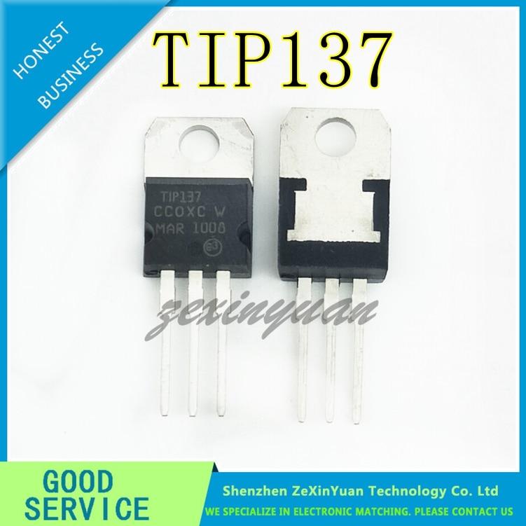 10pcs/lot TIP137 Darlington Transistors PNP TO-220
