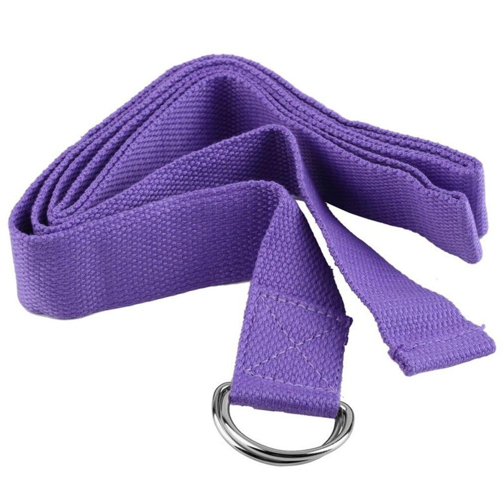 Hot Fitness Exercise Gym Yoga Stretch Strap D-Ring Belt Figure Waist Leg 1800*37mm slackline yoga belt New Brand