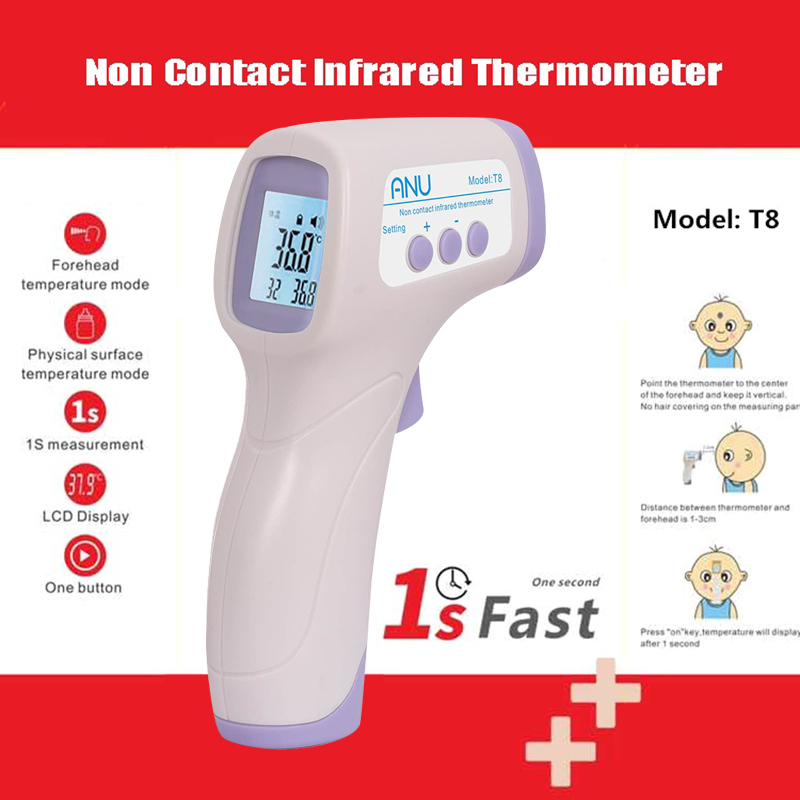 Digital Thermometer Non Contact Infrared Laser IR Temperature LCD Display Laser Gun Pyrometer High Accuracy Temperature Tester