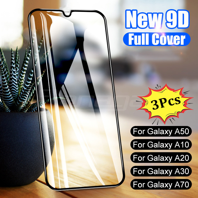 3Pcs 9D Protective Glass On For Samsung Galaxy A50 A40 A30 A10 A20E A60 A70 A80 A90 Tempered Glass For Samsung M10 M20 M30 A20