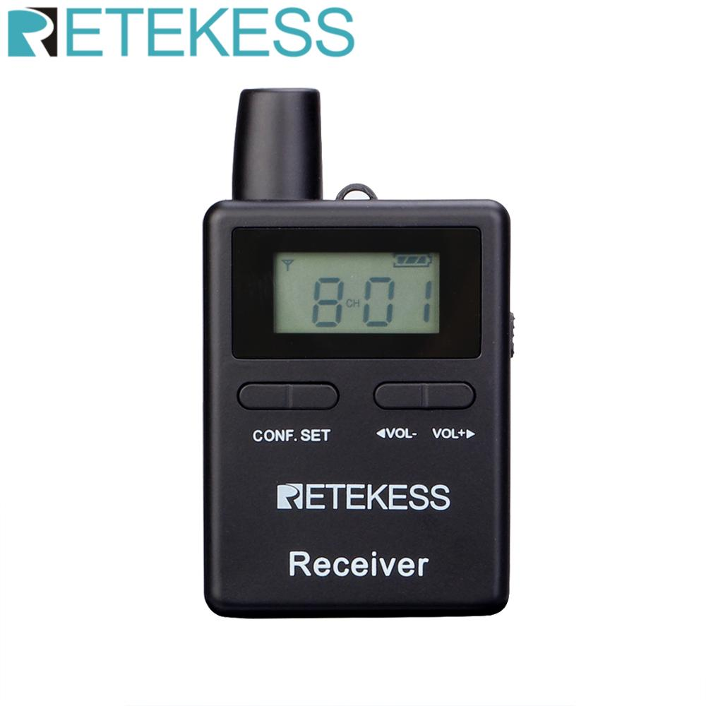 Retekess TT109 Wireless Receiver For Wireless Tour Guide System For Traveling Museum Visit Meeting Factory Church