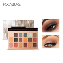 FOCALLURE 18 Colors All Matte Eye Shadow Highly Pigment Cream Eyeshadow Palette Easy to Blend Makeup Earth Color Comestic