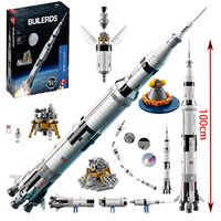 IN STOCK 37003 lepinbricks Apollo Saturn V Model compatible with 21309 80013 Building Blocks Bricks Educational Toy gifts