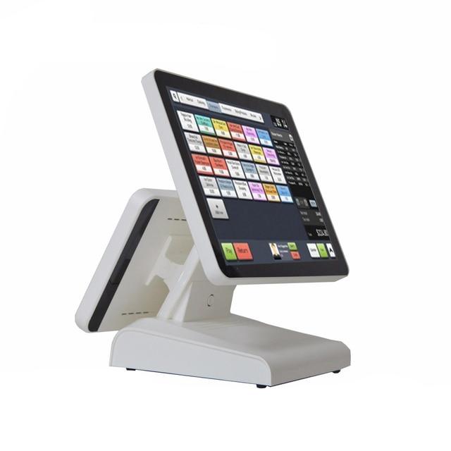 Système de Point de vente à double écran, 15 pouces, pour les détaillants, Terminal de Point de vente Commercial avec écran pur, machine de Point de vente 2