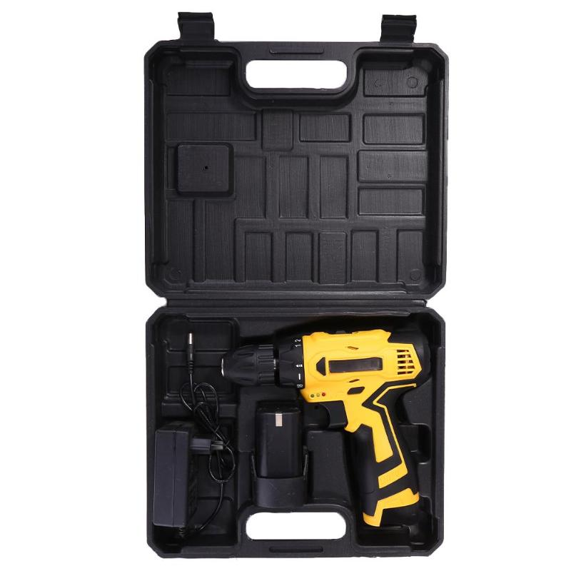12V 18V Cordless Electric Screwdriver Drill Lithium-Ion Battery Rechargeable Household Power Tools 4500/6000mAh 550-1350r/min