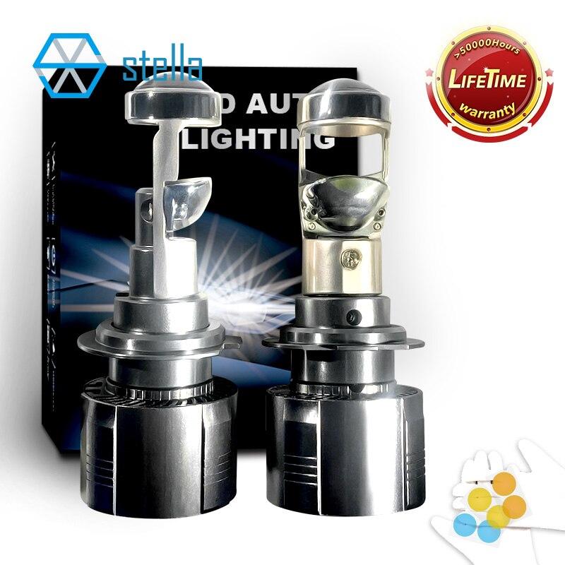Stella 2 шт. автомобиль лампы для передних фар ближнего и дальнего света лампы CANBUS h7/h11/9005/9006 мини led-прожектор, светодиодная лампа для Авто 12v 10000LM