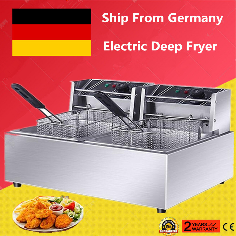 10L//20L Electric Deep Fat Fryer Commercial Healthy Food Frying Stainless Steel