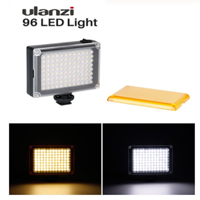 In Stock Russia Ulanzi 96 112 LED Video Light Photo Lighting on Camera Cold Shoe Lamp for iPhone  X 8 Camcorder Canon Nikon DSLR
