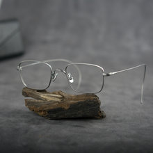 Винтажные квадратные титановые очки оправа для мужчин и женщин