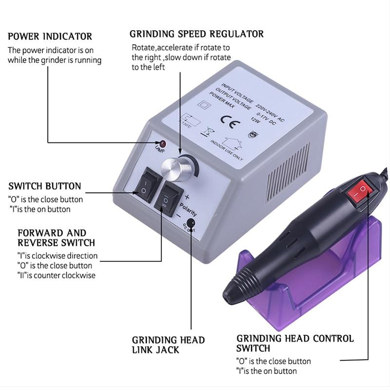 maquina de broca eletrica do prego para 01