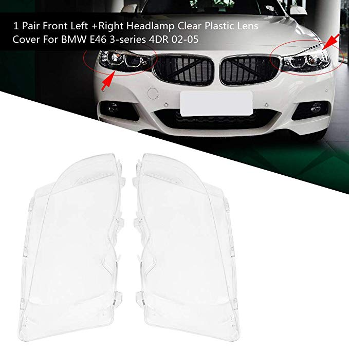Car Headlight Glass Cover Lamp Cover The Headlight Cover Is Suitable For Bmw E46 3 Series 2002 2005 318I / 320I / 325I / 325Xi /