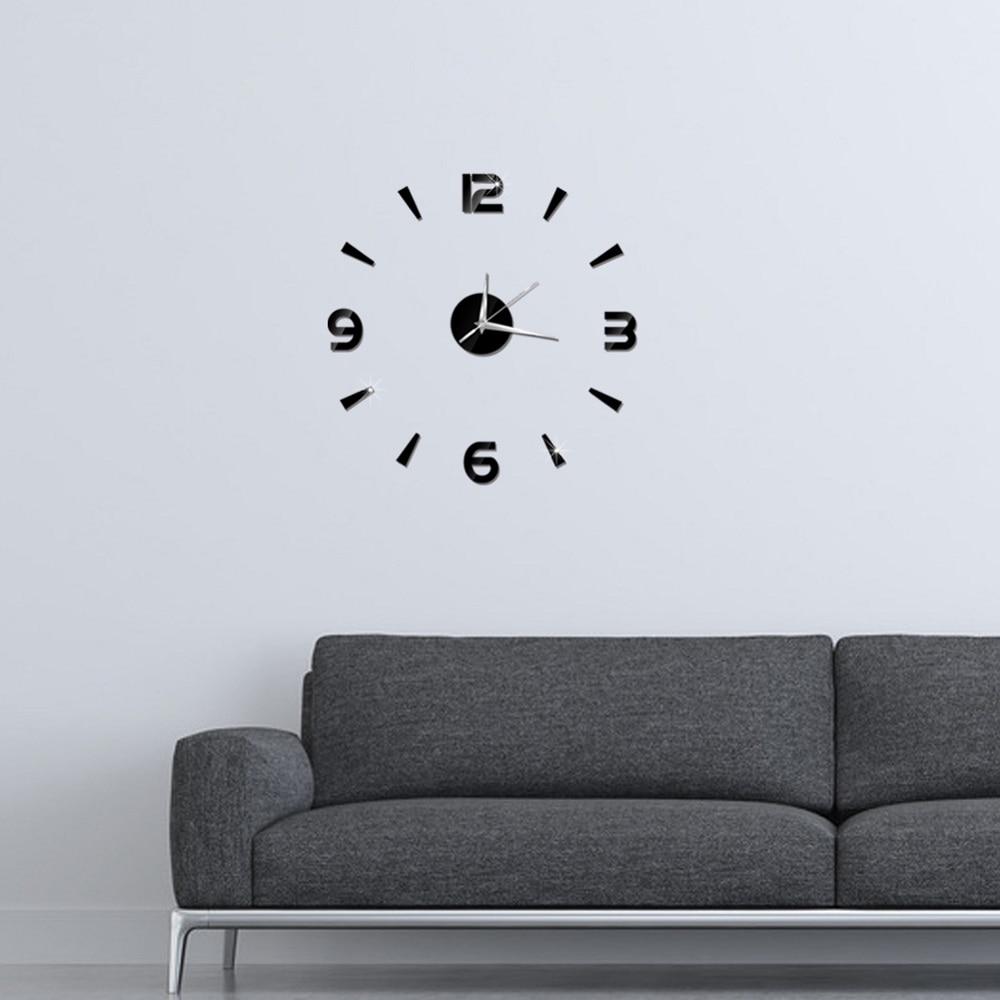 2019 New 3D Wall Clock Mirror Wall Stickers Fashion Living Room Quartz Watch DIY Home Decoration Clocks Sticker reloj de pared 13