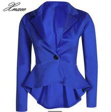 Women Long Sleeve Solid Color Turn-down Collar Coat Ladies Business Suit Cardigan Jacket Suit Blazer Top Xnxee