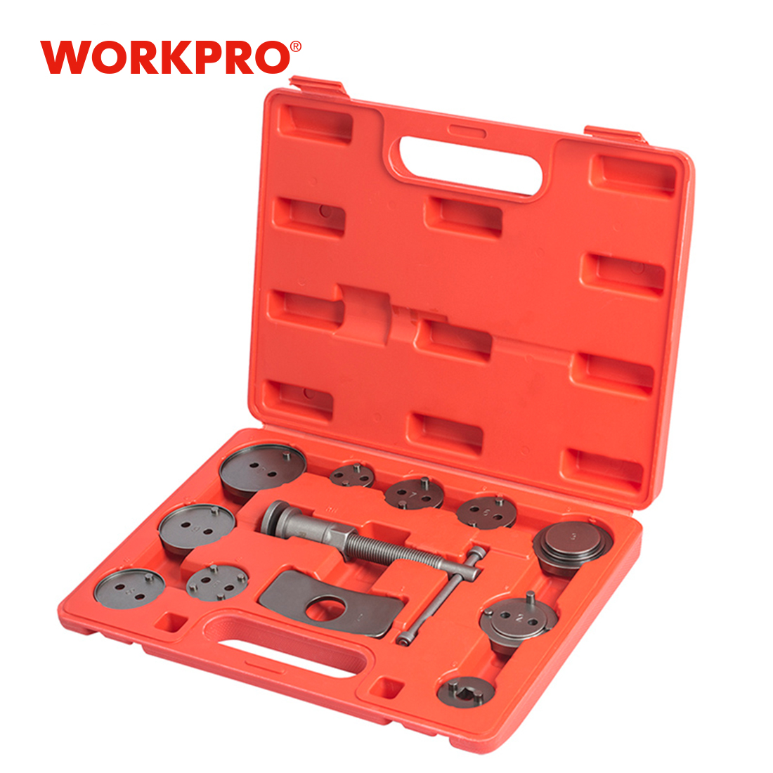 WORKPRO 12PC Car Repair Tools Auto Repair Tool Set Disc Brake Caliper Wind Back Tool Kits