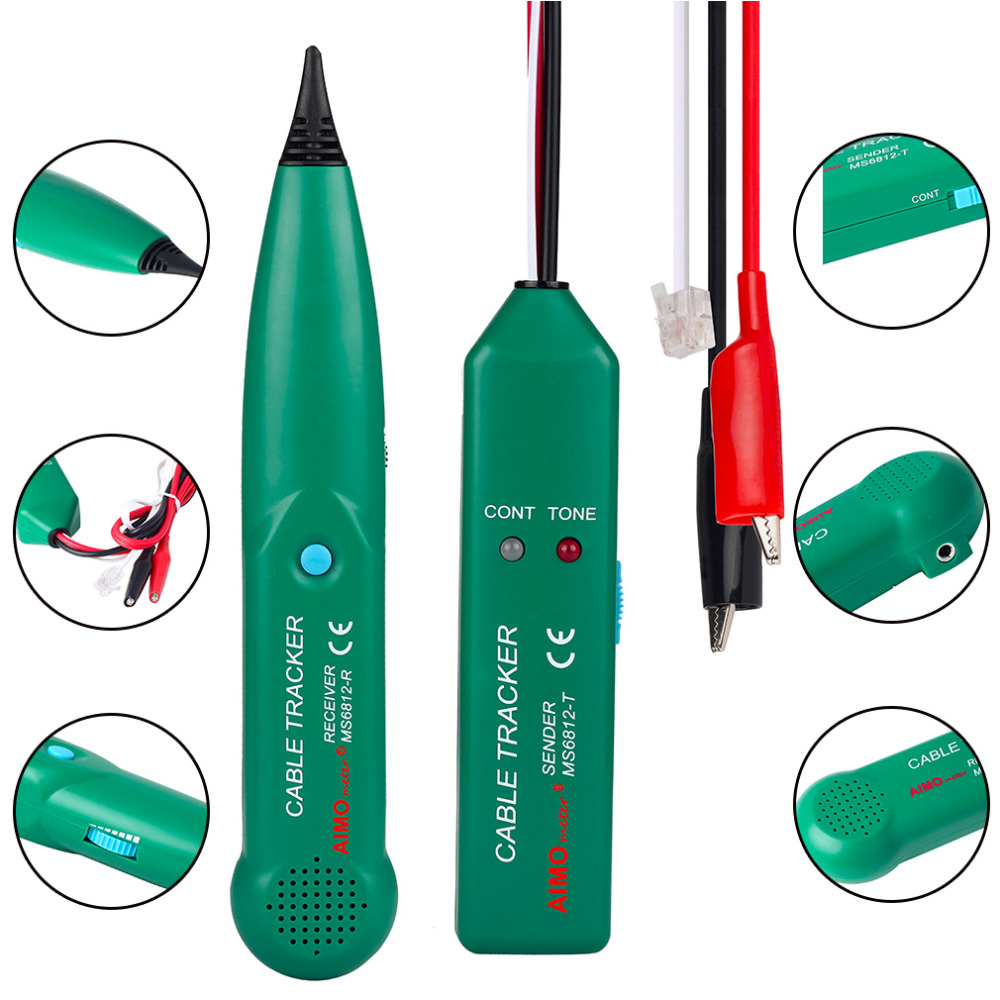 1 Pcs New 6F22 (9V) Telephone Phone Wire Network Cable Tester Line Tracker For AIMO MS6812 (MS6812-T & MS6812-R) Wholesale