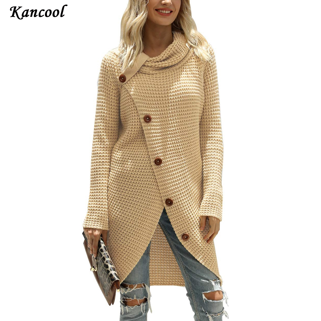 KANCOOL Hot Women Fashion Knitted Pullover Sweater Long Sleeve Turtleneck Solid  Pullovers Blouse Shirt Jumper Winter Clothing|Pullovers|   - AliExpress