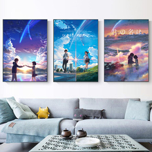 Your Name Manga Film Poster Anime Movie Prints Nordic Style Wall Art Canvas Simple Pictures Animation Poster недорого