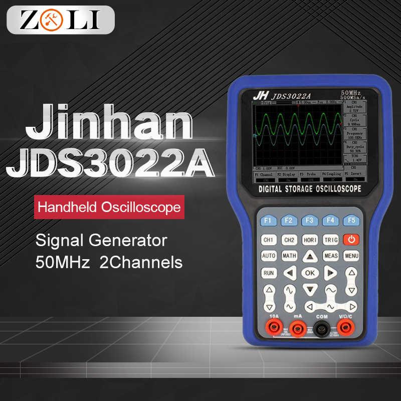 Handheld Digitale Geheugen Oscilloscoop Max Monsters 50MHZ 2CH Signal Generator LCD Display Test Meter Gereedschap Jinhan JDS3022A