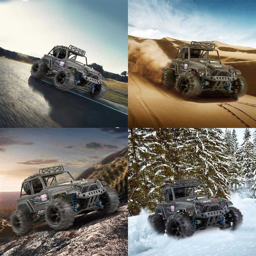 Купить с кэшбэком 1:18 Scale RC Car All Terrain Off-Road Buggy 40KM/H High Speed 4WD Electric Vehicle 2.4 GHz Controlled Waterproof Truck