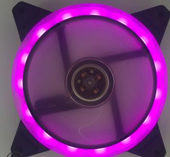 12 моделей многоцветный RGB чехол с круговым охлаждением 2 кольца cpu светодиодный вентилятор 120 мм 12 см RGB светодиодный ring для компьютера кулер для воды радиатор - Цвет лезвия: purple led