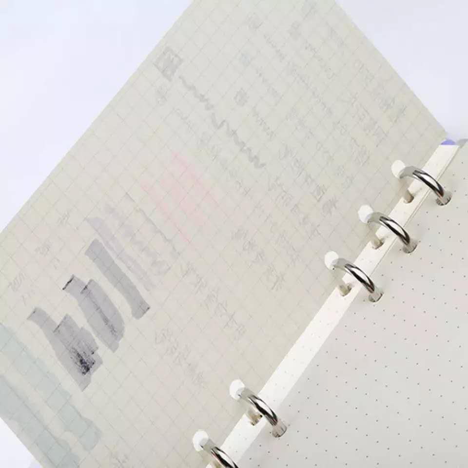 Closeout DealsA5/A6/A7 Loose Leaf Refill Spiral Binder Planner Diary Insert Schedule Organiser Plan 45 Sheets Notes Paper 6 Holes Dot Grid