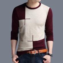 จัดส่งฟรีใหม่แฟชั่น2020ฤดูใบไม้ผลิฤดูใบไม้ร่วงPlusขนาดผ้าขนสัตว์Pullovers Manเสื้อกันหนาวPullover
