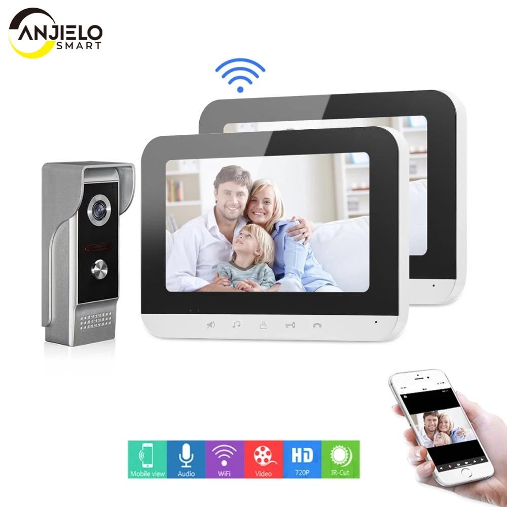 Mobile Phone app Remote Control Wifi Home Security Visual Intercom Smart IP Video Door Phone Support Multiple Intercom Door Bell