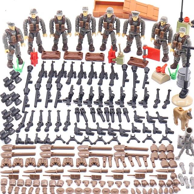 1:35 Simulation Erleuchten Welt Krieg Military Schlacht in Normandie Armee Figuren Mega Bausteine Ww2 Waffe Gun Action Spielzeug