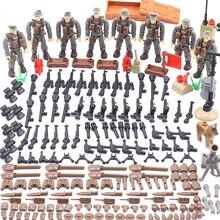 1:35 simulación Enlighten Guerra Mundial batalla militar en Normandía figuras del ejército Mega bloques de construcción Ww2 arma acción Juguetes