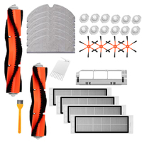 Main Brush+Cleaning Brush+Rag +Main Brush Cover+Water Tank Filter+Orange 6 Arms Side Brush+Filter for Xiaomi Roborock Vacuum Cle|Vacuum Cleaner Parts|   -